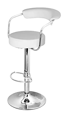 DF Sales Lamboro Zenith bar Stool, White - cheap UK bar stool store.