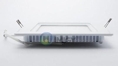230V LED SMD Badpanel 17x17cm - IP44 - Gehäuse weiß - kaltweiß von WFL - Lampenhans.de