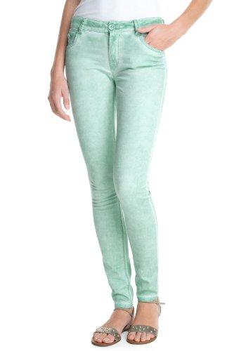 edc by ESPRIT - Pantaloni, slim fit, donna turchese (Türkis (399 green colorway))