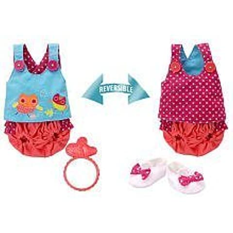 Baby Alive Pretty Ruffles Reversible 2-in-1 Bloomer Set Doll Outfit,
