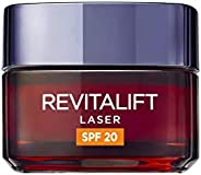 L'Oréal Paris Revitalift Láser Crema de Día Anti-Edad Triple Acción, Protección Solar SPF 20, 5