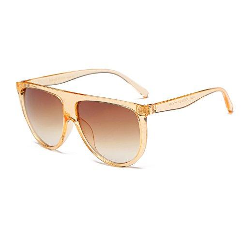 9270e2504b0f Damen Vintage Sonnenbrillen dünne Linse Brille Spiegel Objektiv Aviator  Sonnenbrille Herren Brille (I)