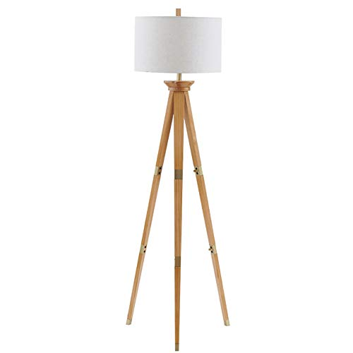 SMQ Salón IKEA Dormitorio Comedor trípode de Madera Maciza lámpara de Mesa Alto Interruptor de pie Vertical Lámpara de pie Simple