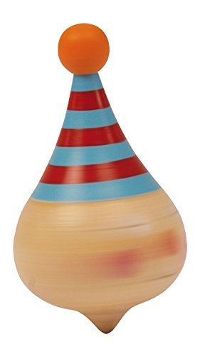 Kreisel-Clown-im-6er-Set-aus-Massivholz-mit-farbenfrohem-Clownsgesicht-tolles-Gastgeschenk-an-Kindergeburtstagen