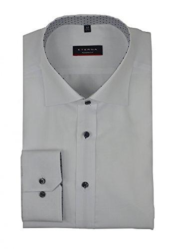 Eterna - Modern Fit - Herren Langarm Hemd mit Kent Kragen in Weiß, Bügelfrei (8097 X35K) Weiß (00)