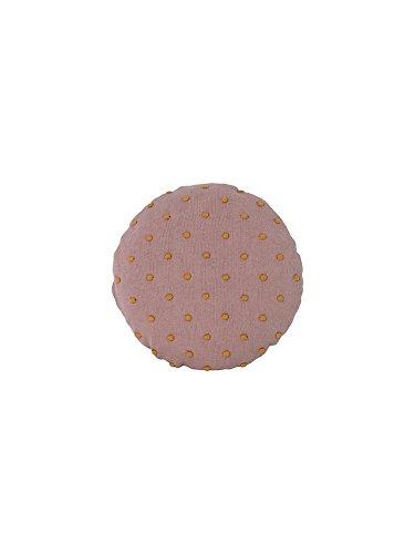 Ferm Living Kissen Rund Popcorn Staubig Rosa Ø40cm