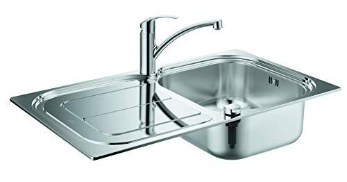 GROHE Eurosmart | Küche - Set aus Spüle und Küchenarmatur | edelstahl | 31565SD0