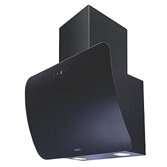 Elica 60 cm 1220 m3/hr Chimney (CONCAVE ETB HE LTW 60 BK TC4V LED, 2 Cassette Filters, Touch Control, Black)