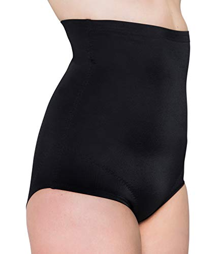 Kasheer ShapeSlip High | Shapewear Damen Miederslip | Stark Formende Bauch-Weg Miederhose | Body-Shaper Unterwäsche (52/54, Schwarz) (Form Bauch)