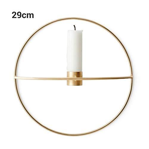 Surenhap Wandteelichthalter, Wandkerzenhalter Wanddekoration 3D Geometrische Rund Metall Kerzenständer auch als Blumenhalter Size 29cm (Gold)