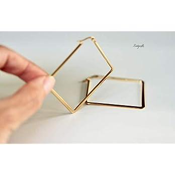 Ohrringe Kreolen Rhombus aus Edelstahl/Statement Ohrringe/Geschenk für die Freundin/Geometrische Ohrringe/Moderne…