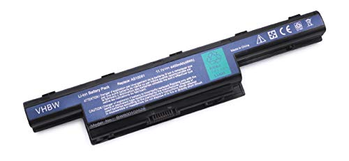 vhbw Batterie LI-ION 4400mAh 11.1V en Noir pour Acer Aspire 4551, 4551-322G32, 4551-1499 etc. remplace 31CR19/652, AS10D31, AS10D3E, AS10D41 etc