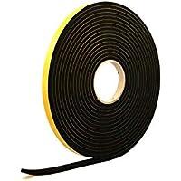 Esponja de goma de neopreno, color negro, 10 mm de grosor x 5 m de largo