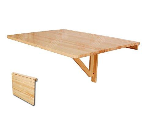 SoBuy® Tavolo da muro pieghevole in legno 75*60cm, naturale,senza ...