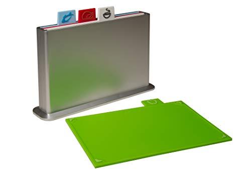 Styleshop777 Schneidebrett Set mit Register, farbcodierte Schneidebretter mit Ständer, Schneidbrett (Board Zuordnung Die)