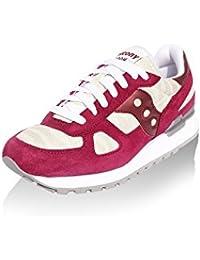 Sneaker Saucony Shadow Limited Edition en suede rojo amaranto y tejido cebrado