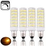Bonlux 4-Pack dimmerabili 6W SES E14 Corn lampada LED bianco caldo 3000K 50W Equivalente Piccolo Edison a vite E14 del cereale del LED per il ventilatore a soffitto, Lampadario, coperta illuminazione decorativa, al lato della lampada, lampada da tavolo