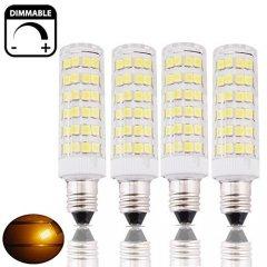 Bonlux 4-Packs Dimmbar 6W SES E14 LED Corn Lampe Warm White 3000K 50W Halogen Äquivalent Kleine Edison Schraube E14 LED Mais Glühbirne für Deckenventilator, Kronleuchter, Indoor Dekorative Beleuchtung, neben Lampe, Schreibtischlampe (Neben Beleuchtung)
