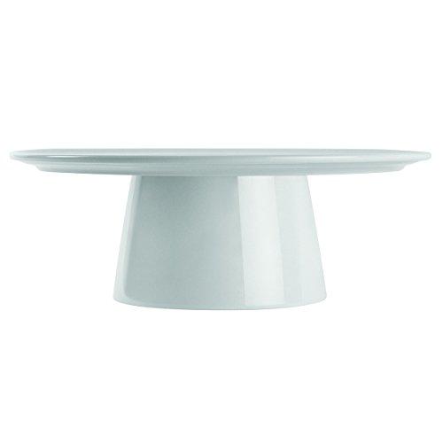 DEGRENNE 209388 Coffret Présentoir à Gâteaux, Porcelaine, Blanc, 37,8 x 37,8 x 13,5 cm