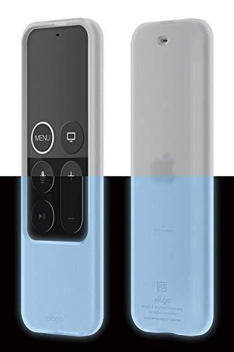 elago R2 Slim Case Silikonhülle Kompatibel mit Apple TV 4K 4. und 5. Generation Siri Remote Fernbedienung - [Anti-Rutsch] [Slim Fit] [Langlebig] [Shock Absorption] - Nachtleuchtendes Blau