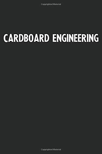 Cardboard Engineering: Blank Lined Notebook Journal With Black Background - Nice Gift Idea