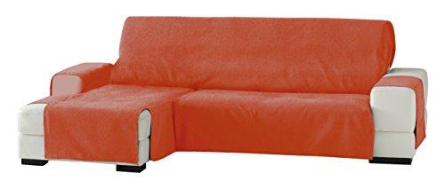 Eysa Italia Zoco Chaise Longue Sinistra Vista Frontale, Poliestere-Cotone, Arancione, 290 cm
