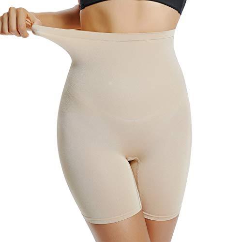 Joyshaper Bauchkontrolle, Oberschenkel, schlanker Shapewear für Damen, hohe Taille, Figurformende Höschen, Slimming Unterwäsche Panty Boyshorts Gr. Medium, beige -
