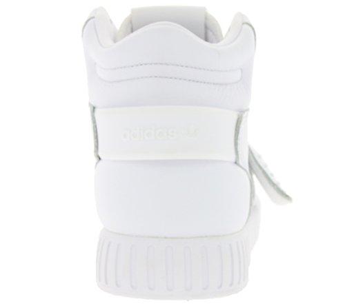 adidas Unisex-Erwachsene Tubular Invader Strap Hohe Sneaker, Beige White/White