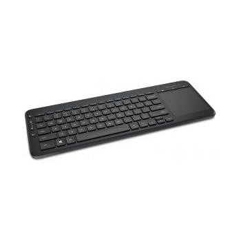flaches leises Tasten Design mit QWERTZ Layout Deutsch d/ünne kabellose Funk Tastatur mit Touchpad im Aluminium Geh/äuse Rii mini K12 schwarz