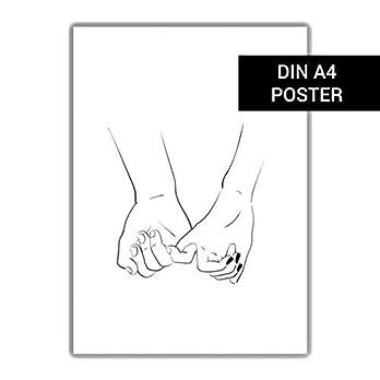 DIN A4 Plakat: Händchen halten