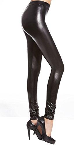 Leder Optik Lackleder Wet-Look glänzende Kunstleder Leggings mit langem  Bein Sexy Party Outfit ! 33083142ef