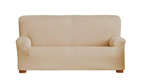 Eysa italia ulises copripoltrona elastico, poliestere-cotone, beige, 37x5x29 cm