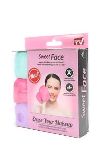 Serviettes démaquillantes pour le visage en microfibre | Retire le maquillage | Sans produit chimique | Lot de 3 serviettes démaquillantes réutilisables