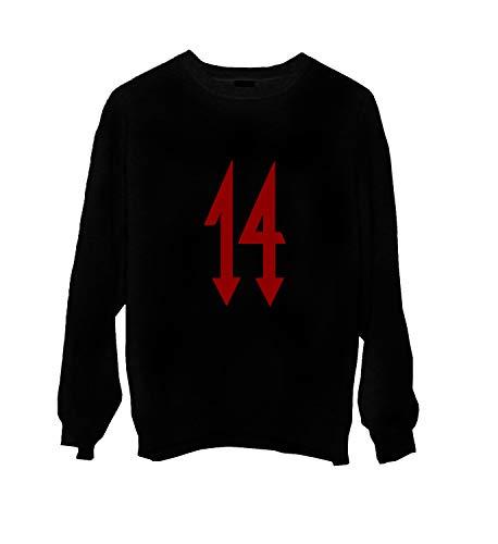 MTNACLOTHING Trippie Redd Rap Music Legend 14 Devil Red_MA0229 Crewneck Sweater Gift for Him Her Unisex, 2XL Black -