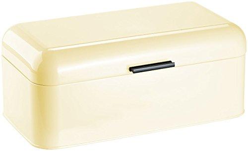Rosenstein & Söhne Brotbehälter: Metall-Brotkasten im Retro-Stil, mandelfarben (Brot-Kiste)