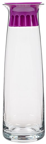 Zone Wasserkaraffe Confetti, Karaffe, Glaskaraffe, Silikondeckel mit Schutzrillen (Lila)