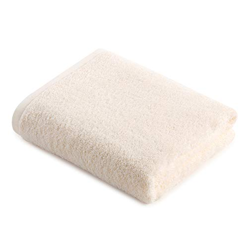WYQ Soft Luxury Bath Sheet, Handtücher Baumwolle Hohe Wasseraufnahme Schnell trocknend Atmungsaktiv Mehltaubeweis Strandtücher Multifunktions Premium Badetücher Duschtücher (Farbe : Beige)