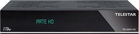 Telestar 5310453 TD 2525 HD digitaler HDTV SAT/DVB-T Receiver schwarz