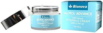 Bionova Alotol Advance 100% Natural Vitamin E cream 6000 IU- Skin Moisturizing and Revitalizing Cream for All Skin Types - 50g