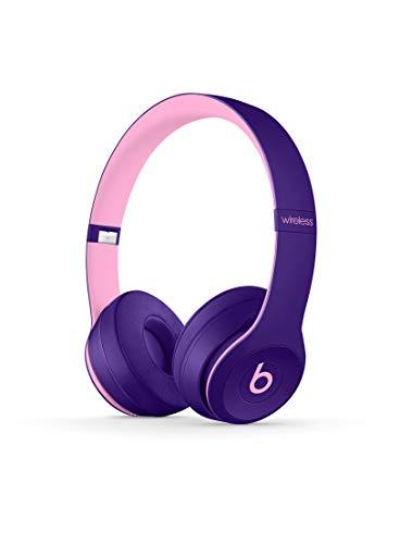 Beats Solo3 Wireless On-Ear Kopfhörer - Beats Pop Collection - Pop Violett (Solo-2 Rosa Kabel)