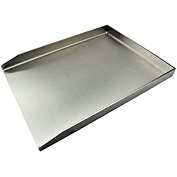 Grillplatte / Grillblech / Plancha | Edelstahl | Massiv (Universal - 40 x 30cm)