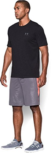 Under Armour Herren Fitness Cc Left Chest Lockup Kurzarm T-Shirt,  (), 0 Schwarz/Grau Steel