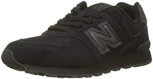 New Balance Unisex-Kinder 574v2 Sneaker, Schwarz, 38.5 EU (Schuhe Balance Junge New Baby)