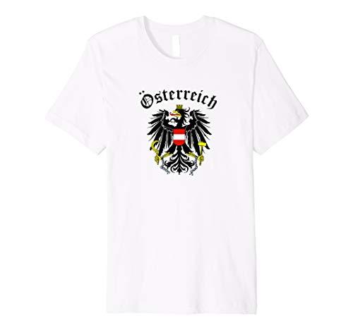 Österreich Adler Wappen T-Shirt Geschenk Wien Austria Vienna