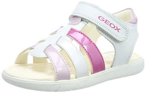 Geox B Sandal Alul Girl Bimba, (White/Pink C0406), 21 EU