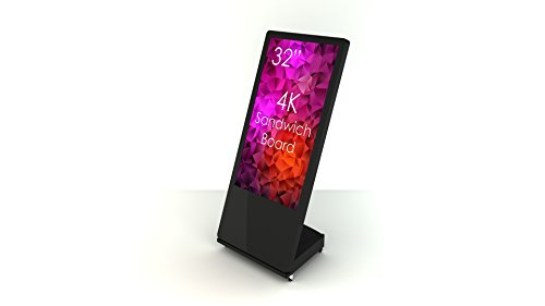 SWEDX SWSB32K8-A2 Digitaler Kundenstopper 81 cm (32 Zoll) Digital Signage Display (4K Ultra HD, 3 HDMI 2.0, 2 USB-Player, Timer, 24/7 Betrieb) schwarz