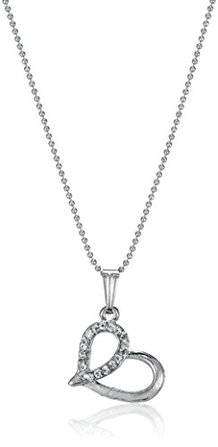 Ava Heart Pendant with Chain for Women (Silver) (P-O-NL2005)  available at amazon for Rs.139