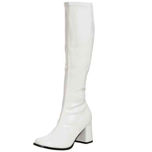 Pleaser Gogo300/w, Damen Stiefel, Weiß, 39 (Amazon Kostüm 300)