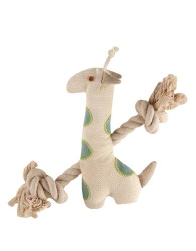 Einfach Fido Natur Giraffe Canvas Hundespielzeug, -
