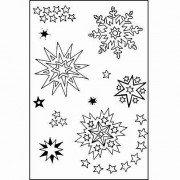 efco-Stempel klare Sterne 01A7/74x 105mm 11Teil transparent, 11x 8x 2cm - 01 Tinte